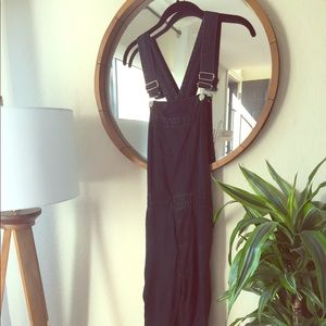 ASOS Black overalls with side zipper on the legs